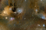 Celestial Explosion of Colour: Rho Ophiuchus Cloud Complex and The Blue Horsehead Nebula (IC 4592)