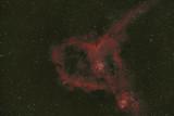 Heart Nebula (IC 1805 ) and Accompanying Fish Head Nebula (IC 1795)