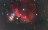 Flame and Horsehead Nebulae in Orion