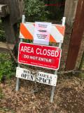 Trail closed due to winter rain damage