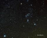 Constellation D`orion et L`étoile Sirius a Gauche