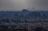 view of pyramids from the cairo citadel