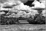 Barn and Clouds on Summer Afternoon