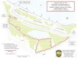 Map of Magee Marsh boardwalk area