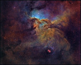 NGC 6188 widefield in Hubble color mapping