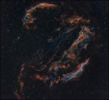The full Veil nebula in Hubble color mapping