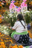 Decorating a grave for angelito