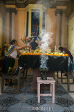 Burning copal in the capilla