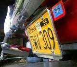 License Plate frame rakish angle - normal position