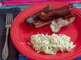 BBQ Ribs and Cole Slaw