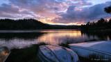 Sunset at Hiawatha Lake