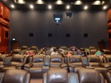 Watching a movie with birthday guests
