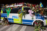 Flowered police van