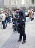 Heavy armed police