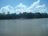 River crossing to get to Cat Tien