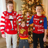 Winners in the Ugly Sweater Contest of 2017