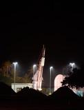 CHESS-4 on launch rail - SCRUB