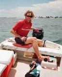 Marcus in boat