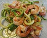 Asian Zucchini Noodle Stir-Fry with shrimp