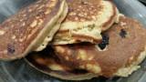 Oatmeal Banana Blueberry Walnut Pancakes!