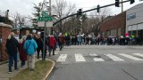 Huge crowd snaked through town
