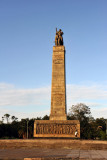 The monument commemorates the defeat of a coup supported by Portugal