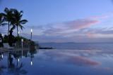 Infinity pool at dusk, Sheraton Grand, Conakry