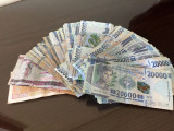 The largest Guinean franc note, 20000, is only worth 2 euros
