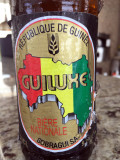 Guiluxe, one of the local beers brewed in Guinea