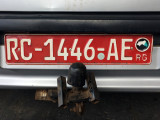 License plate, Republic of Guinea