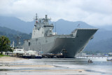 HMAS Adelaide (L01) on a port visit to Subic Bay, Oct 2017