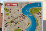Londonderry Visitor Map showing the old walled city