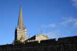 St Columb's Cathedral rising above the south wall of the old city