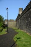 Walkway along the south wall