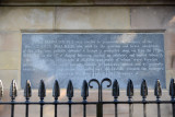 Plaque of the 1688 Siege of Derry erected to the memory of the governor Rev. George Walker