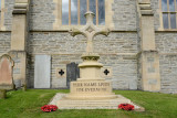 Former cross from the spire of St. Columb's now commemorating the Battle of the Somme