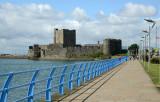 Carrickfergus Castle and the promendade along Marine Highway
