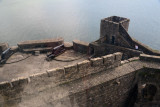 Middle Ward of Carrickfergus Castle from atop the Keep