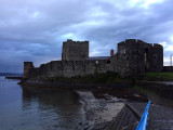 Carrickfergus Castle in the evening