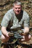 John with 2 Eastern Box Turtles