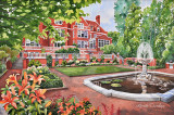 507 - Watercolor Painting: Duluth's Glensheen Mansion