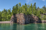 Tettegouche:  Lake Shore With Cave