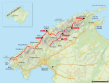 Map of the trail in Majorca