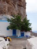 Saint Photis chapel with cliffs above