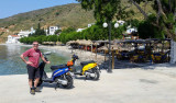 Steve with our scooters at Emporios