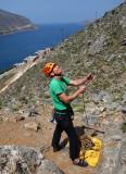 Brian at Sea Breeze crag Kalymnos
