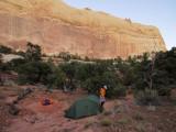 Dry camp in Upper muley twist