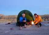 Camp on slabby rock near the summit of Yellow rock