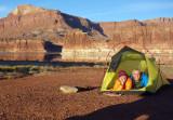 Camp at Hite before Dark canyon