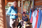At Escalante Outfitters before driving out down the Burr Trail to Upper Muley Twist
